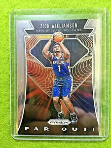 ZION-WILLIAMSON-PRIZM-ROOKIE-CARD-JERSEY-1-PELICANS-SP-RC-2019-20-Panini-Prizm