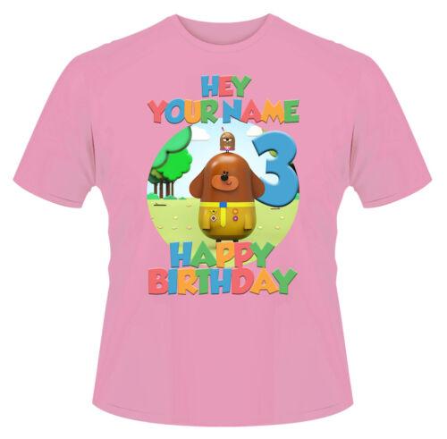 EHI duggee HAPPY BIRTHDAY personalizzata Ragazzi Ragazze T-Shirt Regalo Ideale//presenti