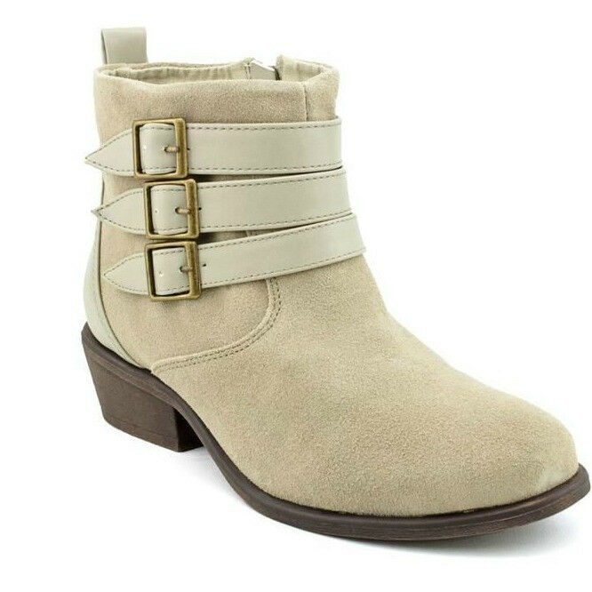 CHARLES DAVID SUEDE LEATHER DEVOTE ANKLE FASHION BUCKLE BOOTS BOOTIE NEW 7.5 M