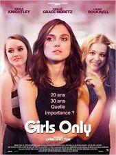 Affiche 40x60cm GIRLS ONLY 2015 Keira Knightley, Chloë Grace Moretz NEUVE
