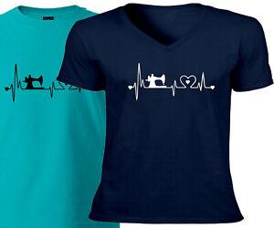 Sewing-Heartbeat-Lifeline-Machine-Gift-Hobby-Sew-Mens-Women-Unisex-Tee-T-Shirt