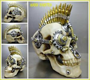 d82ec886e8 Image is loading Steampunk -Cyber-Futuristic-Gothic-SKULL-Skeleton-HEAD-Sculpture-