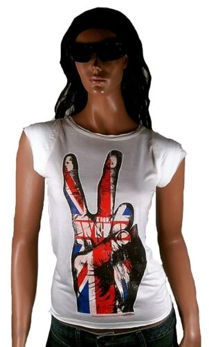 AMPLIFIED Official THE WHO Union Jack VICTORY 68 70/'s Vintage Print T-Shirt L 40