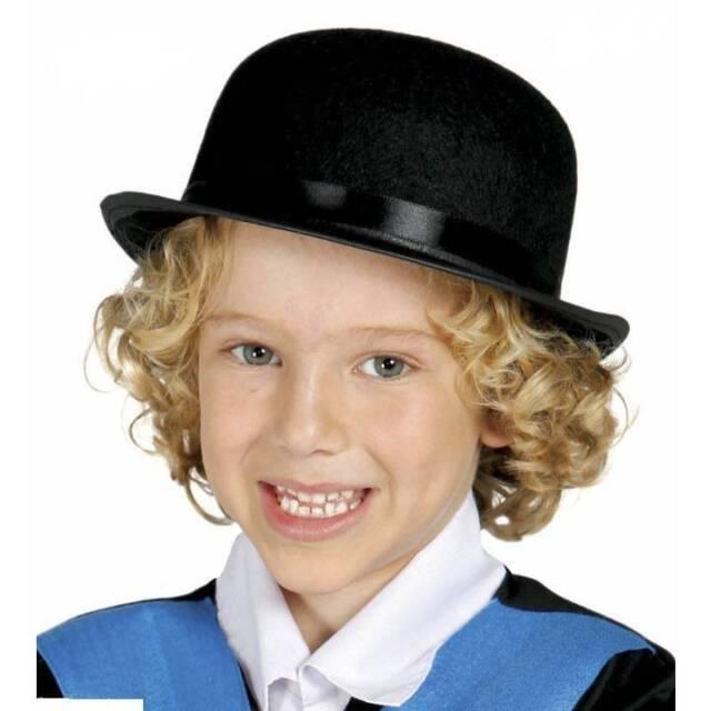 Kids Black BOWLER HAT Fancy Dress Book Week Dance Boy s Children s Costume 53d08ad0a7f