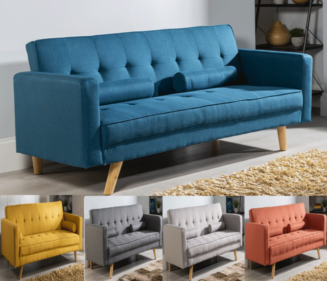 Modern Sofa Bed With Cushions And