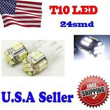 4 X Super White T10 24-SMD Wedge 1206 LED Light bulbs 192 168 194 W5W 2825 158