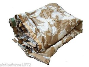 NEW-Genuine-UK-Army-Issue-DESERT-CAMO-Waterproof-Shelter-Sheet-Basha