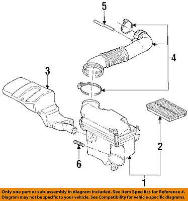 Saturn GM OEM 00-01 SC1 Air Cleaner Intake-Vent Hose Tube 21006953