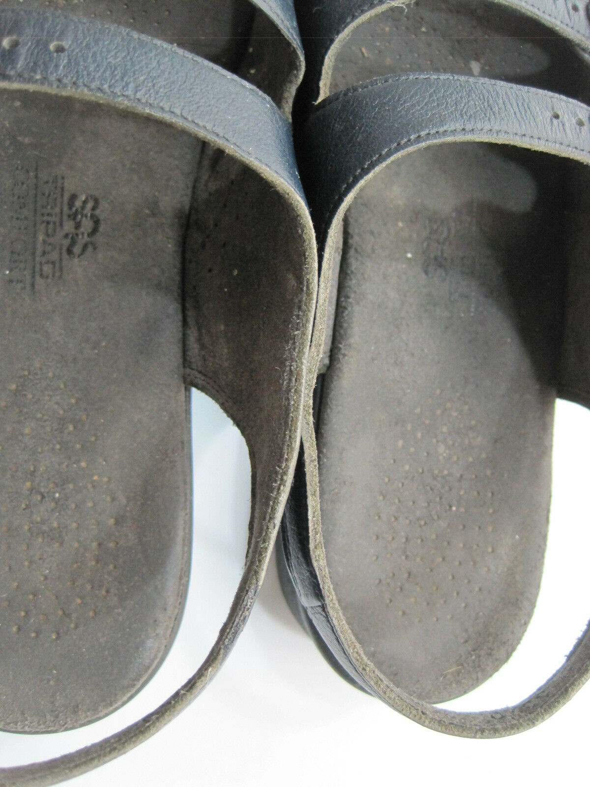 SAS Women Tri-Pad Tri-Pad Tri-Pad Comfort Sandals Size 8 bluee Leather Foot Bed Style 8370 1e6aaa