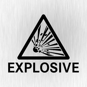 Explosive-Explosiv-Warnhinweis-Gefahr-Sign-Schwarz-Vinyl-Decal-Sticker-Aufkleber