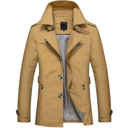 Men/'s Collar Jackets Casual Coat Slim Windbreaker Winter Trench Tops Outerwear
