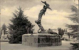 Mailand-Milano-Italien-Lombardei-AK-1900-Cimitero-Monumentale-Friedhof-Denkmal