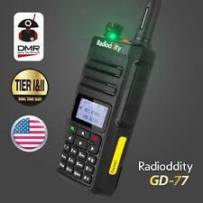 10pcs Radioddity Gd-77 DMR Dual Band TierII Digital Analog Two Way Radio & Cable