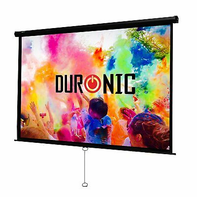 Duronic MPS100 /43 Ecran de projection manuel 100 pouces 4:3 / 203 x 152 cm