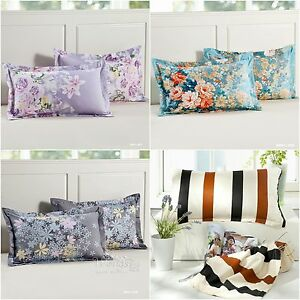 Hot-Floral-New-100-Cotton-Soft-Pillowcases-Home-Decor-Cushion-Cover-45x75cm