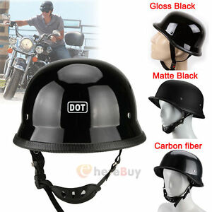 DOT-Motorcycle-German-Half-Face-Helmet-For-Chopper-Cruiser-Biker-M-L-XL-Vintage