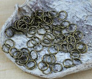 100 Stück 7mm antik bronze Bastelringe Sadingo Metall Binderinge doppelt