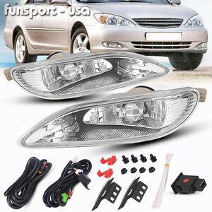 for 2005 2008 toyota corolla bumper lamp clear fog light pair switch