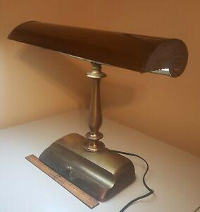 Details About Vintage Art Deco GE Brass Fluorescent Desk Lamp