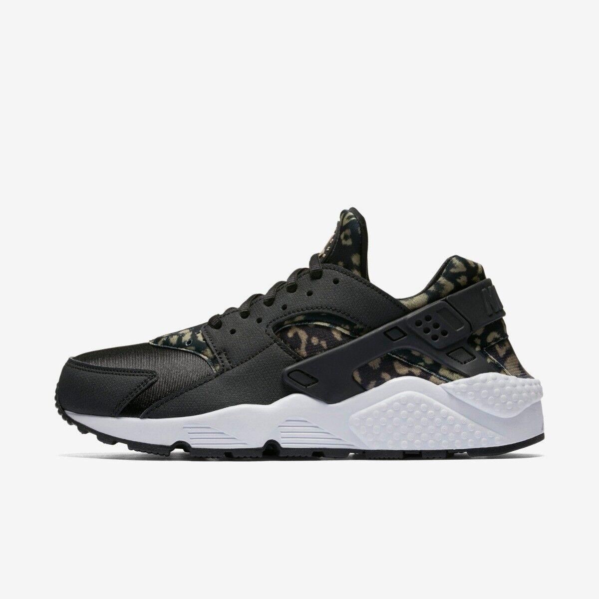 Nike 4 Air Huarache Run Print Womens running Trainer Size 4 Nike Black Khaki RRP /- 644b3d