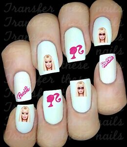 Image Is Loading 30 Barbie Nail Art Decals Stickers Water Transfers