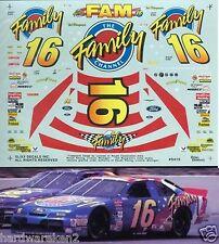 NASCAR DECAL #16 FAMILY CHANNEL 1994 THUNDERBIRD TED MUSGRAVE SLIXX