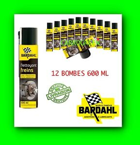 Bardahl-Lot-de-12-Bombes-600-ML-Nettoyant-Degraissant-Frein-Auto-Moto