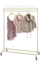 Clothing Rack Boutique Salesman Retail Garment Rolling Casters Ivory 48 66 H