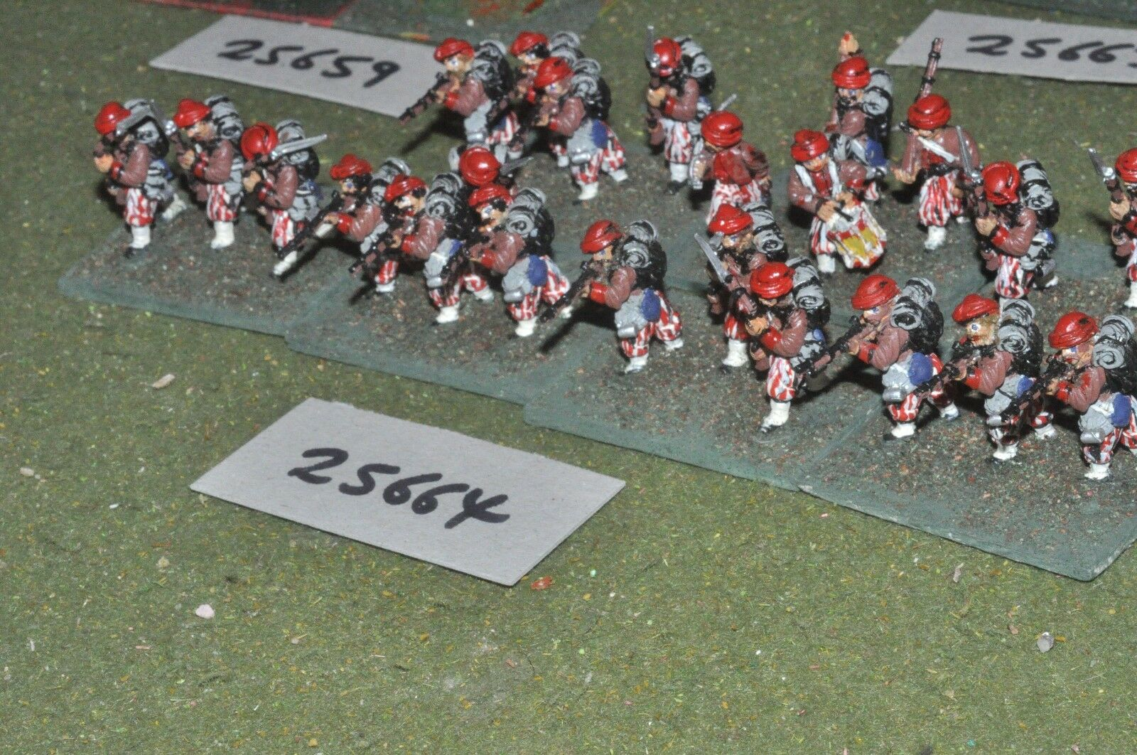 25 mm mm 25 ACW/CONFEDERATE-Zouaves 24 figures-INF (25664) 906980