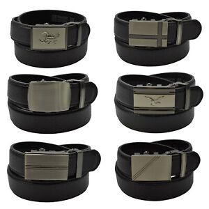 Herren-AUTOMATIK-Guertel-105-160-cm-schwarz-3-0-cm-breit-mit-Schnalle