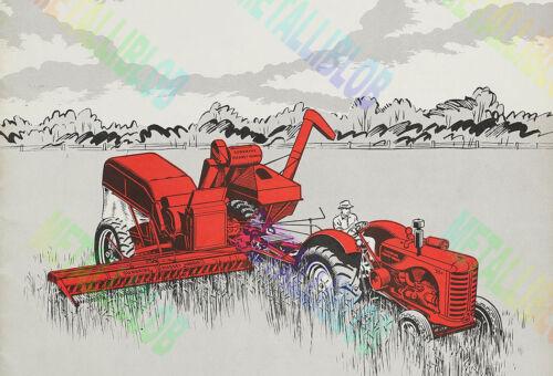 - Massey Harris T55 Vintage Tractor cartel 3 para 2 Oferta A3