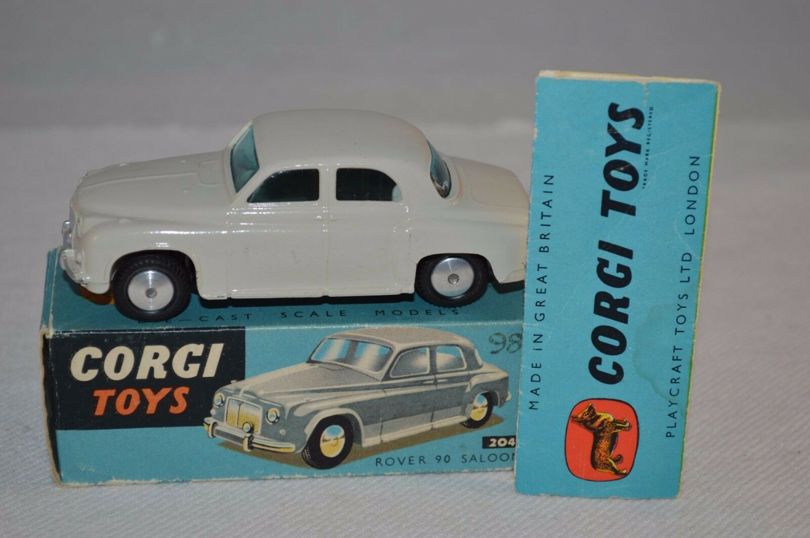 Corgi Toys 204 Rover 90 Saloon in excellent plus to near mint condition in box
