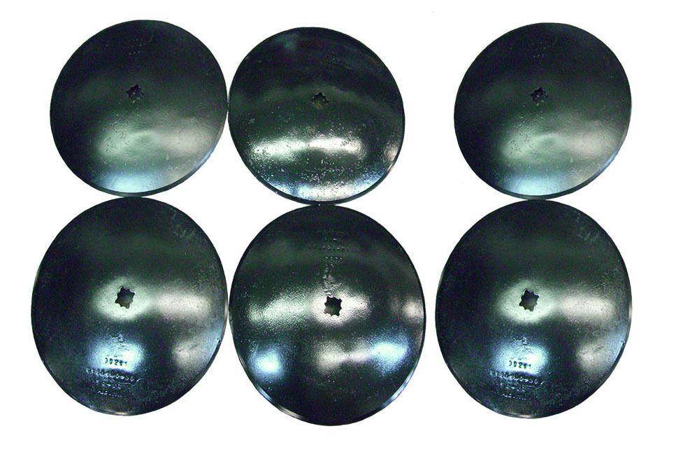 18'' SMOOTH Disc Harrow Blades HEAVY DUTY 1  or 1 1 8  SQ  NEW LOT OF 6
