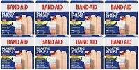 8 Pack Band-aid Adhesive Bandages Plastic All One Size, 60 Sterile Bandages Each