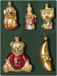 christbaumschmuck weihnachtskugeln figuren aus glas anh nger baumschmuck baumbeh ebay. Black Bedroom Furniture Sets. Home Design Ideas