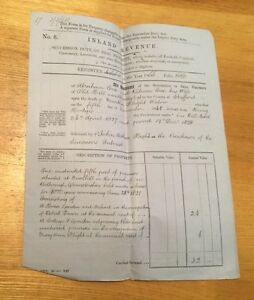 1866-Old-Hill-Dudley-Abraham-Cox-Revenue-Document