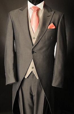 Gut Ausgebildete Mj-209 Men's Light Grey Mohair Two Piece Formal Tailcoat Suit Ascot/weddingtails