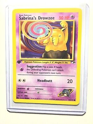 1st Edition Sabrina's Drowzee 92//132 Gym Heroes Near Mint