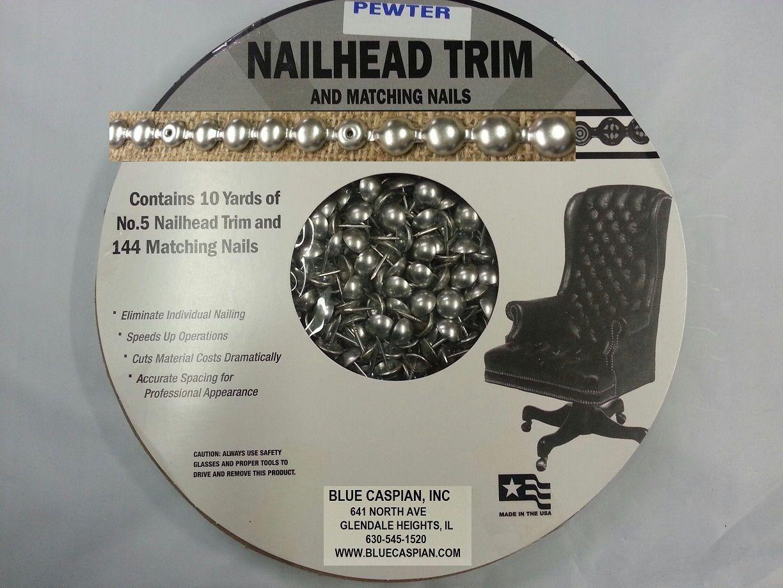 French Natural 10 Yard 30 Feet Nailhead Upholstery Trim Kit Tackstrip #5 Strip