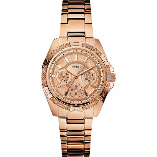 1 von 1 - GUESS CHRONOGRAPH W0235L3 Roségold Edelstahl Damenuhr Armband Phantom 229.-€