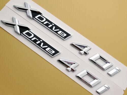 New XDrive 40i Auto Emblems Badges Decal Sticker BMW X3 X5 X6 SUV Models 2PC New
