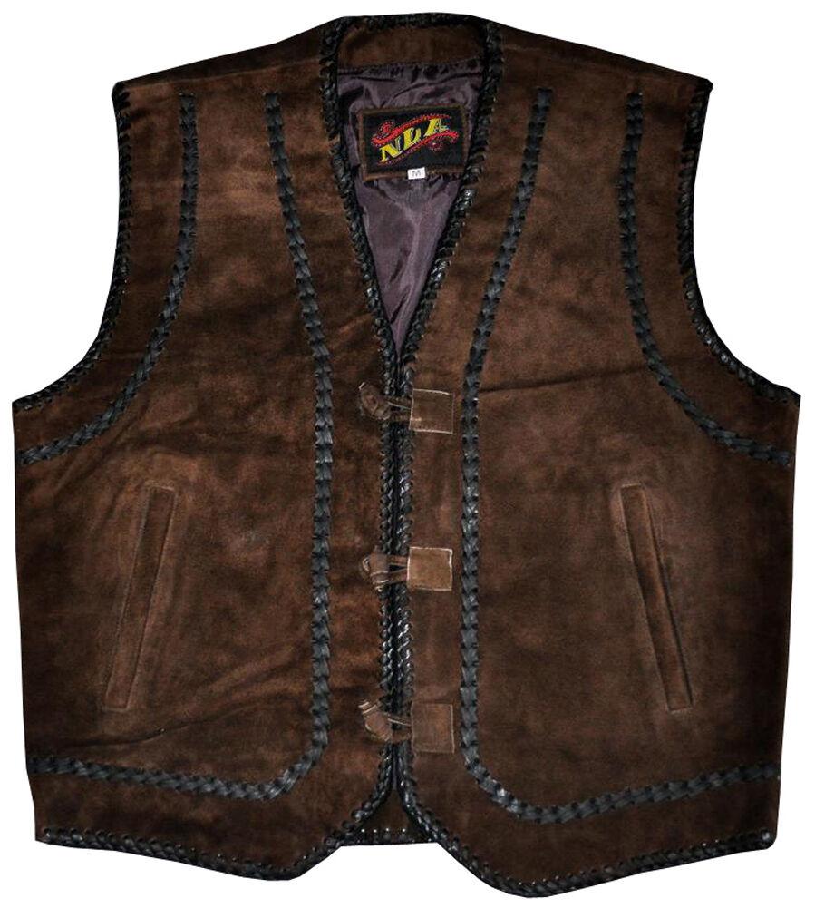 Suede Vest Western style - Dark Brown