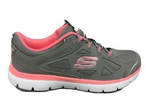 12981 Skechers Damen Gipfeltreffen integrierte Sneaker grau l8nNs
