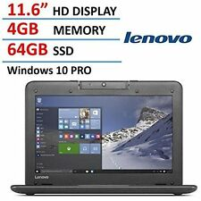 "Latest Lenovo N22 Dual Core 4GB 11.6"" Windows 10 Pro 64GB SSD Notebook PC"