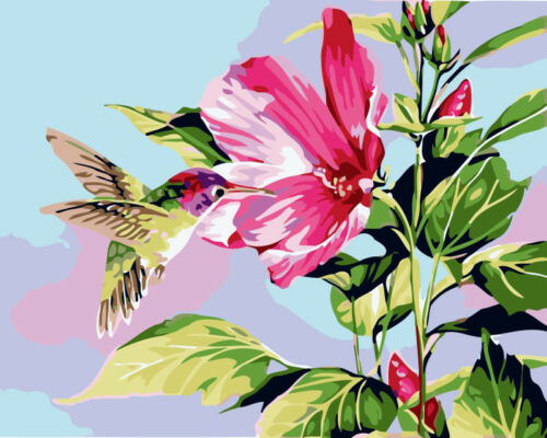 DIY Paint By Number Kit Acrylic Oil Painting On Linen Art Decor Flowers Scenery