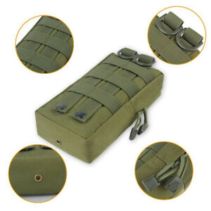 Tactical Molle Pouch Bag Utility EDC Pouch Vest Backpack Belt Hunting Waist Pack