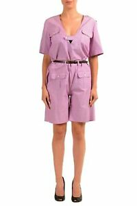 Dsquared2-Pink-Sort-Sleeve-Belted-Women-039-s-Romper-US-s-IT-40