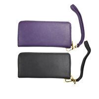 Fashion Women Faux Leather Zipper Handbag Cards Clutch Wallet Bag