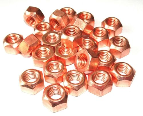 25x M10 SW17 M10x1,5  Mutter Kupfermutter Krümmer Turbolader Auspuff Abgasanlage