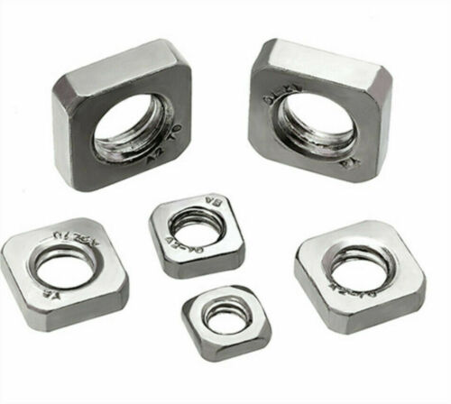 M3 M4 M5 M6 M8 M10 Square Nuts 304 Stainless Steel DIN557 DIN562 Thin Type